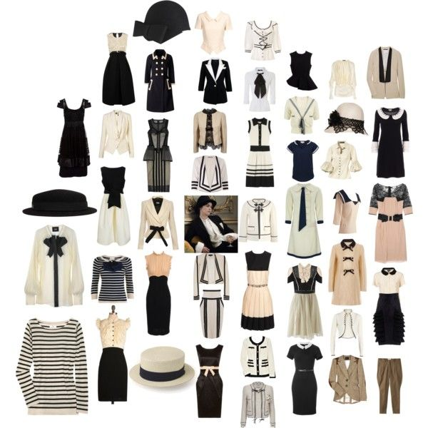 True Elegance is Refusal--Coco Chanel, created by #pearlsonawhiteneck on #polyvore. #fashion #style Temperley London Max and Cleo