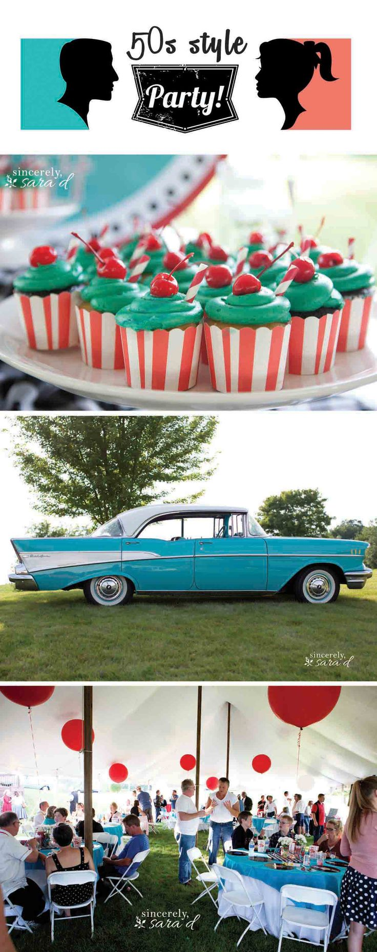 50s Style Party - so fun! I really want to have a sock hop someday with everyone's classic cars