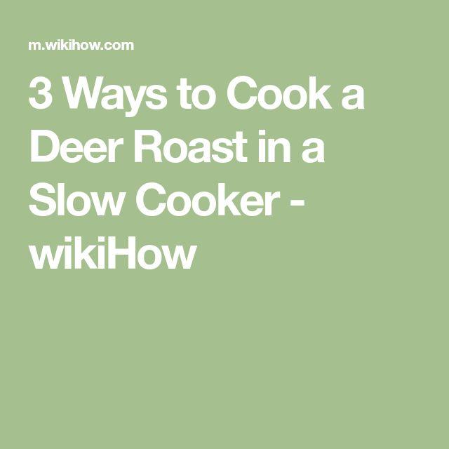 how to slow cook venison shoulder