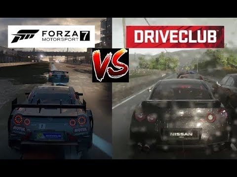 FORZA 7 vs DRIVECLUB  - Dynamic Weather - XBOX ONE X vs PS4 #xboxone #ps4 #games #gaming