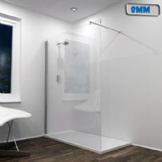 Jupiter 1200mm Wet Rooms Shower Screen Panel Silver