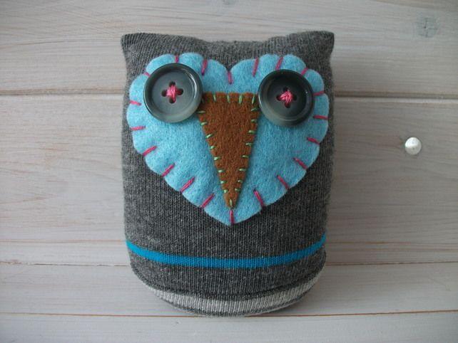 Paperweight-Desk-shelf Sock Owls.