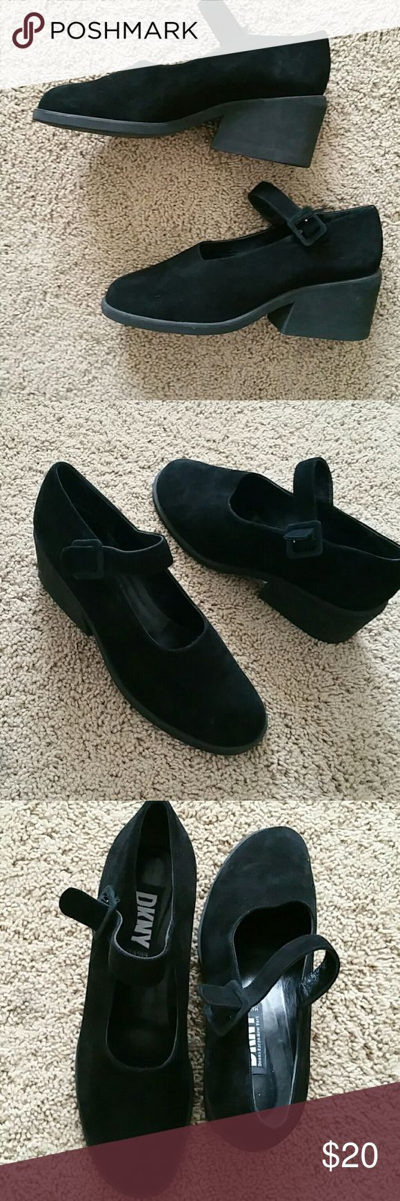 Dkny marry Jane wedges Really cute  Never really worn Made in Spain Vintage Want to sat sz 8 (not sz listed ) Not uo Urban Outfitters Shoes