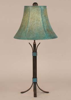 Desert Rust Lamp with Turquoise Western  Lamps