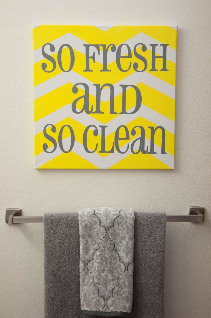 gray and yellow bathroom so gonna make this for my sisters new place