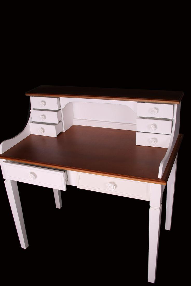 Escrivaninha  provençal tampo madeira