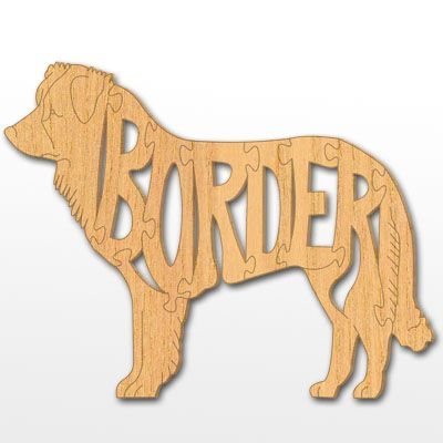 Dog Breed Scroll Saw Patterns | Border Collie Puzzimal LINK to website to order patterns