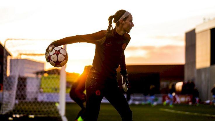 'KEEPING FOCUSED: Karen Bardsley is proud of the growth of women's football
