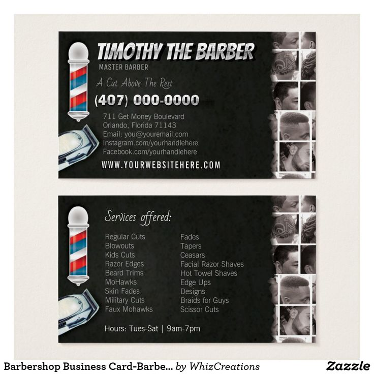 23 best Cool Colorful Barbershop Business Cards For Barbers images ...