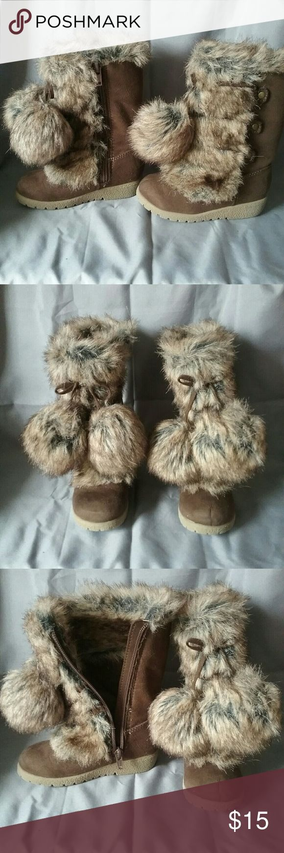 Furry Boots The cutest boots ever! I wish we had a pair in every size. Shoes Boots