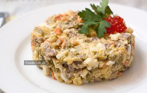 Olivier salad with beef - http://bit.ly/1QNovZV