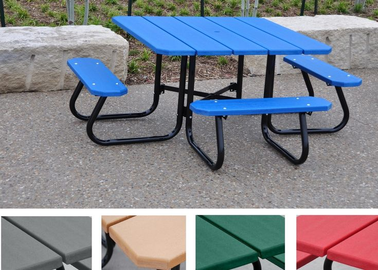 12 best outdoor metal table images on pinterest picnic picnics square picnic table watchthetrailerfo
