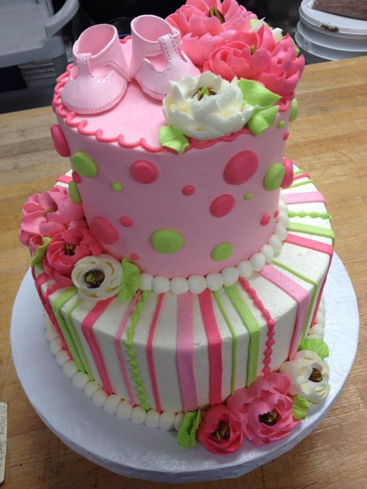 Cake Decorating Baby Shower Girl : 308 best images about Cake Decorating - Baby Girls on ...