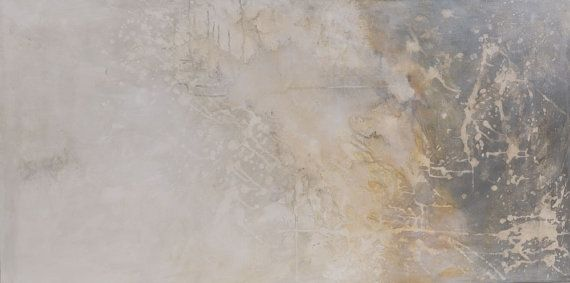 """Large 24x48"""" light & metaphysical character abstract painting. Original acrylic and oil on high quality canvas. """"Misty moments 2"""""""