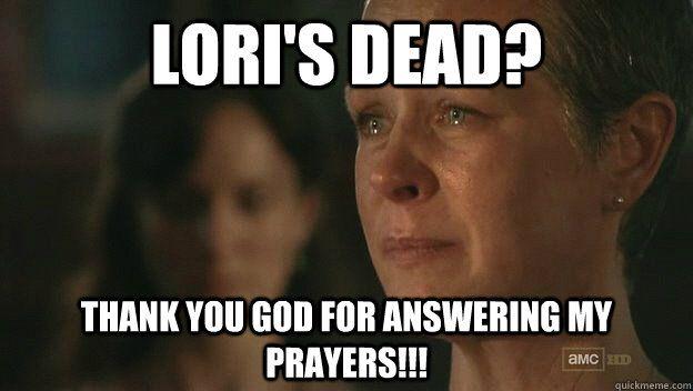 Walking Dead Funny Captions   The Walking Dead Sad Carol ...