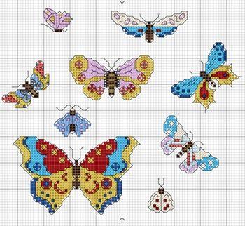 DMC Light Effects Floss Butterflies free project