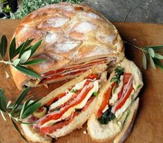 Lavender and Lovage | Pan Bagnat ~ A French Picnic Sandwich for a Summer's Day Picnic at the Bottom of the Garden! | http://www.lavenderandlovage.com