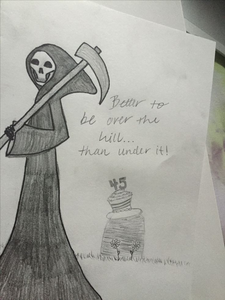 Birthday card grim reaper over the hill my artwork pinterest birthday card grim reaper over the hill my artwork pinterest grim reaper artwork and cards bookmarktalkfo Image collections