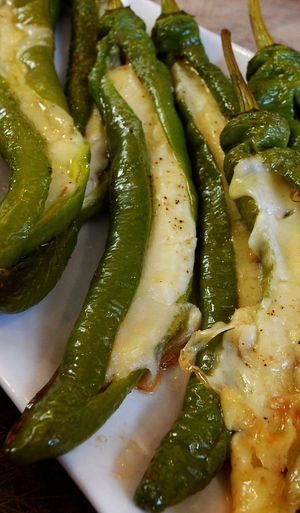 provolone stuffed long hots | Cook This! with shereen