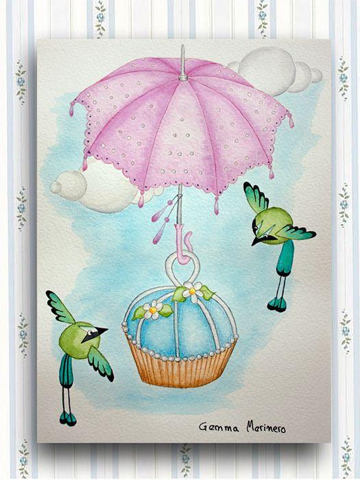 Momotos  cupcake y sombrilla. (Gemma Merinero)