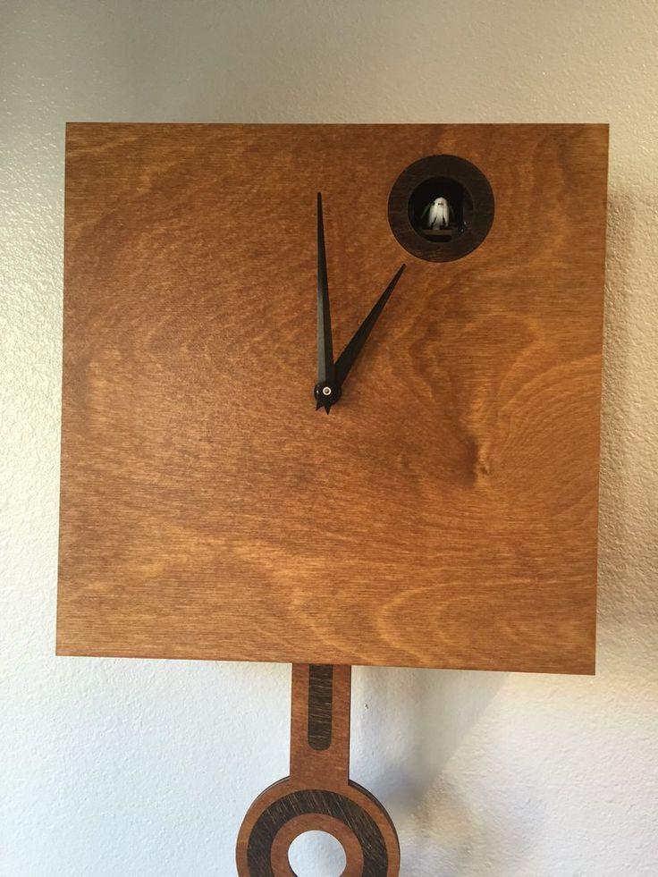 Modern Cuckoo Clock - Cherry
