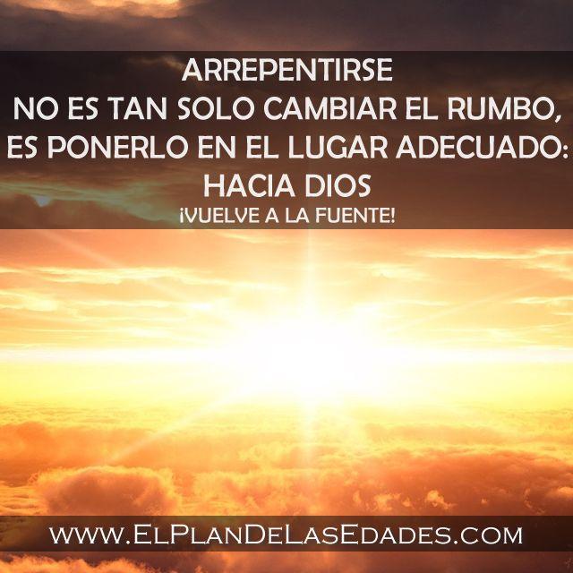 ¡Arrepentimiento es volver a Dios!