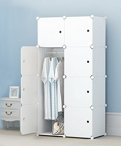 "About Us MEGAFUTURE portable wardrobe will help make your home neat, tidy. DIY assemble make it meet various demands. It's also very easy to assemble and offers sturdy result.  Specification: 8 Cube Closet Dimensions for each cube: – 14""(W) x 18""(D) x 14""(H) / 35cm(W) x... more details available at https://furniture.bestselleroutlets.com/bedroom-furniture/bedroom-armoires/product-review-for-megafuture-portable-wardrobe-cupboard-organizer-clothes-clos"