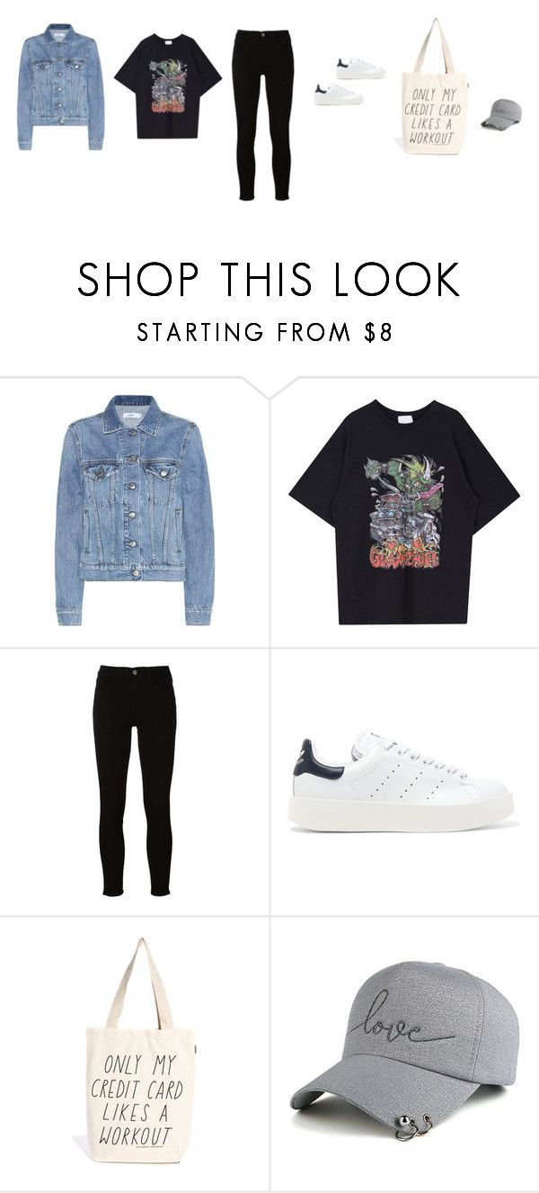 """Untitled #4588"" by memoiree ❤ liked on Polyvore featuring Closed, Frame, adidas Originals and Talented Totes"