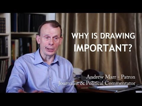 VIDEO: BBC's Andrew Marr on drawing.   The Campaign for Drawing patron explains why learning how to draw makes you a more rounded human being!
