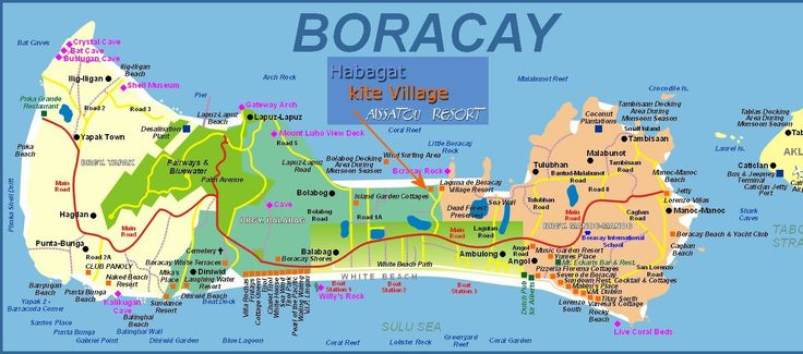 Boracay Island Resorts | Click to see full size Map of boracay Island Hotels, beaches ...