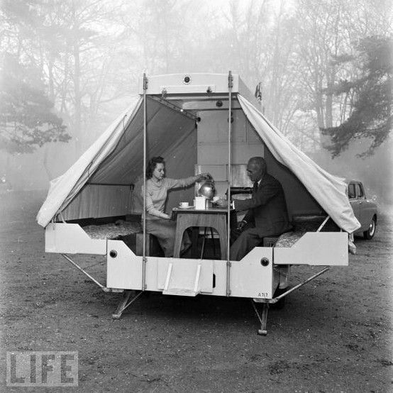 Caravanning and camping: Vintage photos of holidaymakers in the great outdoors