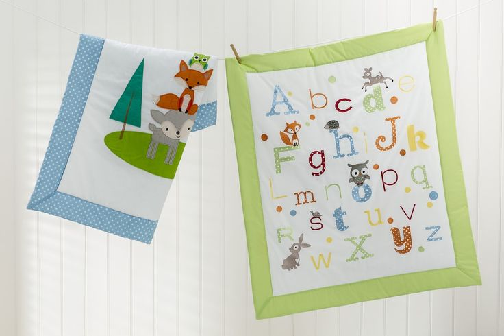 These fun cot quilts will be a magical addition to any child's nursery.