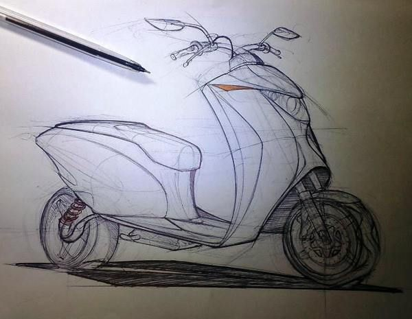 scooter design sketch