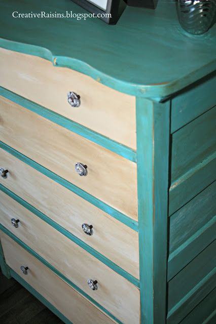 I'm liking the two-toned dressers I keep seeing on Pinterest. These colors would work in my bedroom.