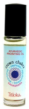 Crown Chakra - Triloka Anointing/Perfume Oil - 1/4 Ounce by Triloka Perfume Oil. $7.99. Round bottle is shown, may also be in a square bottle.. 100% pure, natural, essential oil blends created according to ancient Ayurvedic knowledge, combined with a base of fractioned coconut oil (5% essential oil). Suitable for direct application to the skin. 1/4 ounce roll-on bottle.
