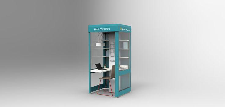 Vizuál pracovní budky   článek: http://ekonomika.idnes.cz/poslat-mail-vytisknout-fakturu-v-nakupnim-centru-vznikla-mini-kancelar-1om-/ekonomika.aspx?c=A170314_092809_ekonomika_vem