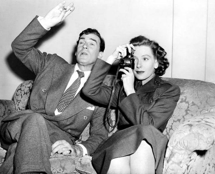 "Walter Pidgeon and Deborah Kerr on the set of ""If Winter Comes"", 1947"