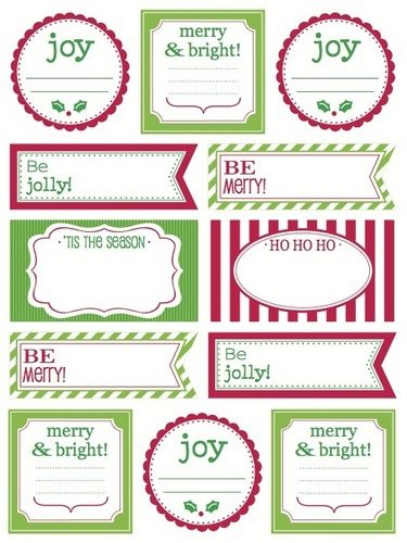 SRM Stickers Gift Set {Christmas Tags and Bags}