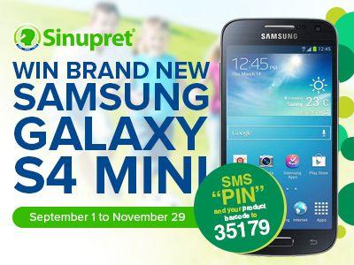 Win Samsung Galaxy S4 Mini by sms.