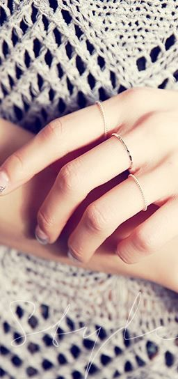 StyleOnme_Simple Silver Rings (3 pcs) #silver #silver92.5 #3pcs #simplerings