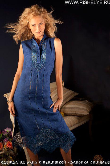 ручная вышивка на платье