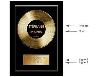 Disque d'or personnalisé