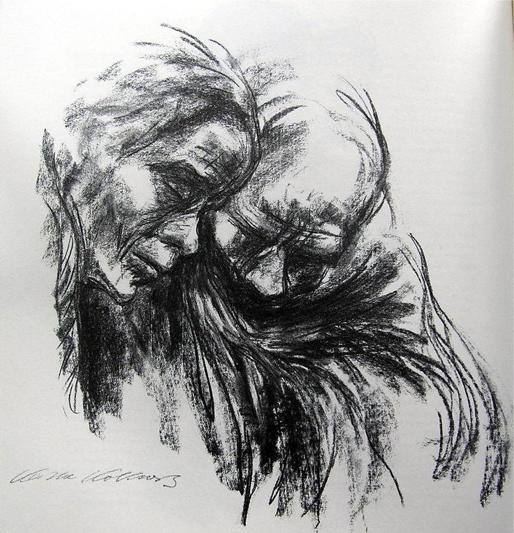 expressive figure drawing charcoal kollwitz - Bing images