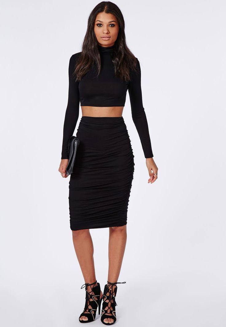 Midi Skirt Black | Dress Journal