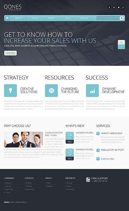 Template 46351 - Qunes Business Responsive Drupal Template