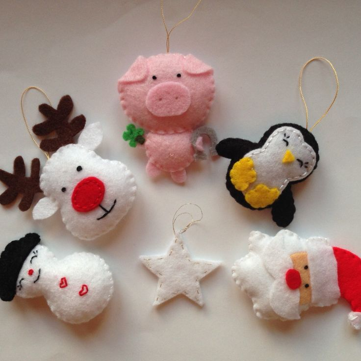 Christmas ornament set buy at #Broilly #KinkinPuppetsStore #handmade #handcrafted #marketplace #onlineshop #craft