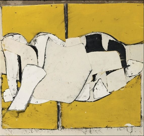 Untitled, Conrad Marca Relli, suggests a reclining figure.