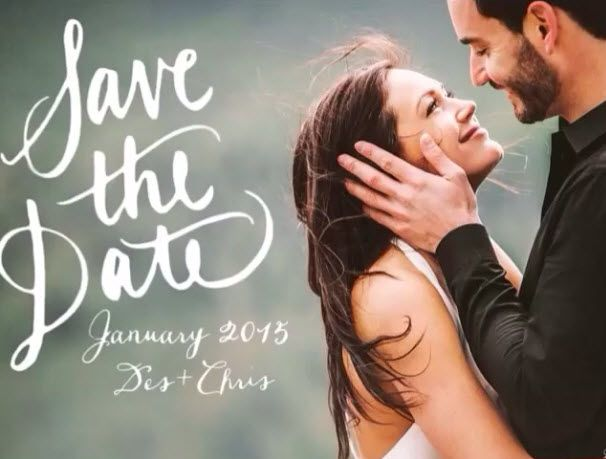 Desiree Hartsock and Chris Siegfried Share Adorable Save the Date (VIDEO) It's like they always say, it's not real until someone makes a slideshow about it and posts it to Instagram! That's not what they say? Ah well, that still applies to Desiree Hartsock and Chris Siegfried, who have hinted for months at a January 2015 wedding, but only just shouted it from the rooftops with an adorable save the date video!