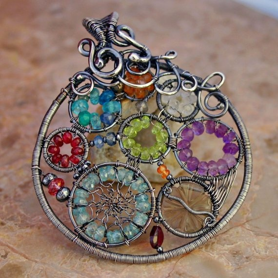 beautiful wire wrapped pendant, love this so much - cool