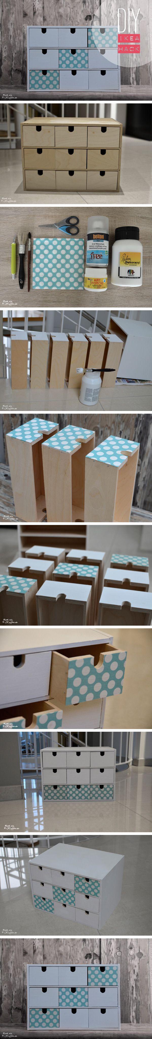 Ikea Hack: Schubladen Minikommode Fira im neuen Look – #Fira #Hack #ikea #im #MiniKommode